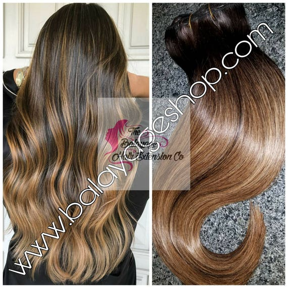 Clip extensions balayage