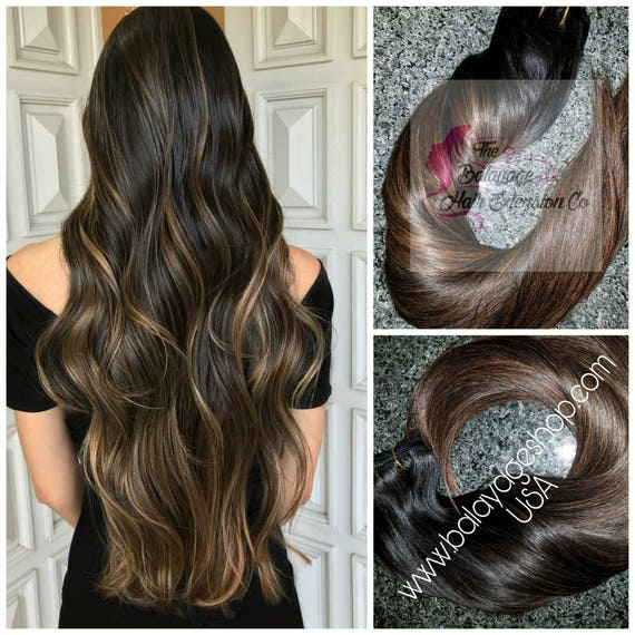 Balayage Remy Clip In Extensions Hair Extensions Remy Hair Etsy