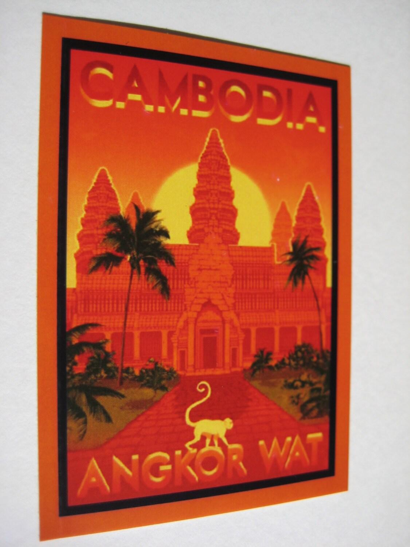 Angkor Wat Sticker Cambodia Decal Cambodia Car Decal   Etsy