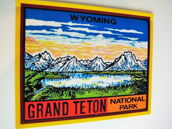 Grand Teton National Park Auto Truck Vinyl Decal Souvenir Travel Explore Nature