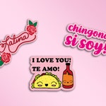 Cute Small Latina Inspired Die cut stickers