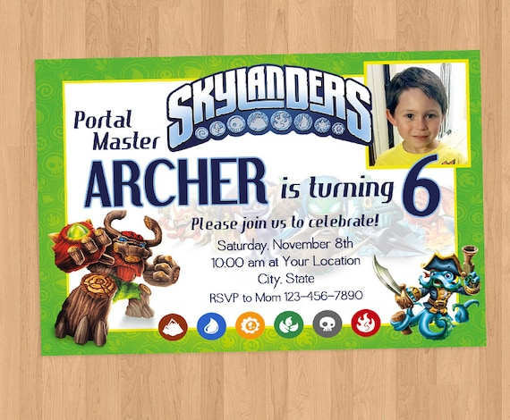 Skylanders Birthday Party Invitation Printable