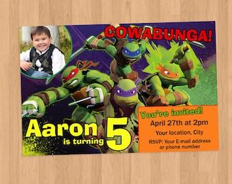 Teenage Mutant Ninja Turtles TMNT Birthday Invitation Printable