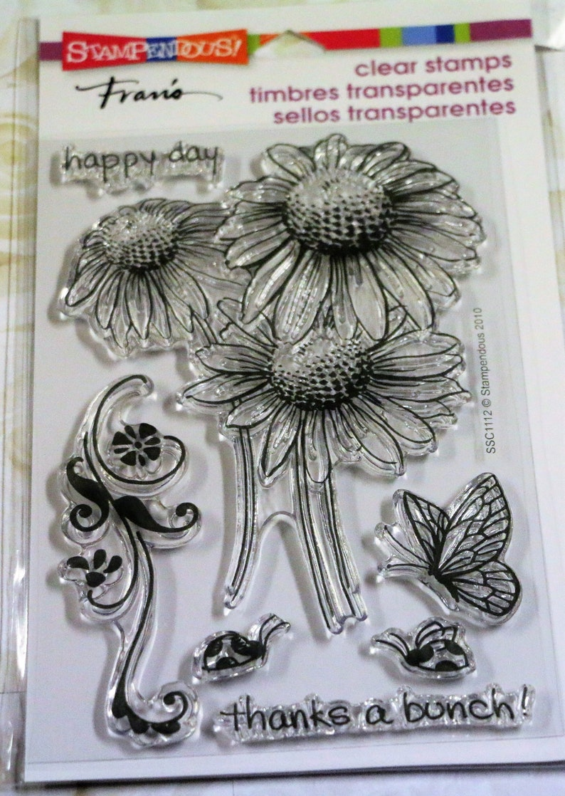 Butterfly NEW Stampendous Fran/'s Stamp Set Butterflies