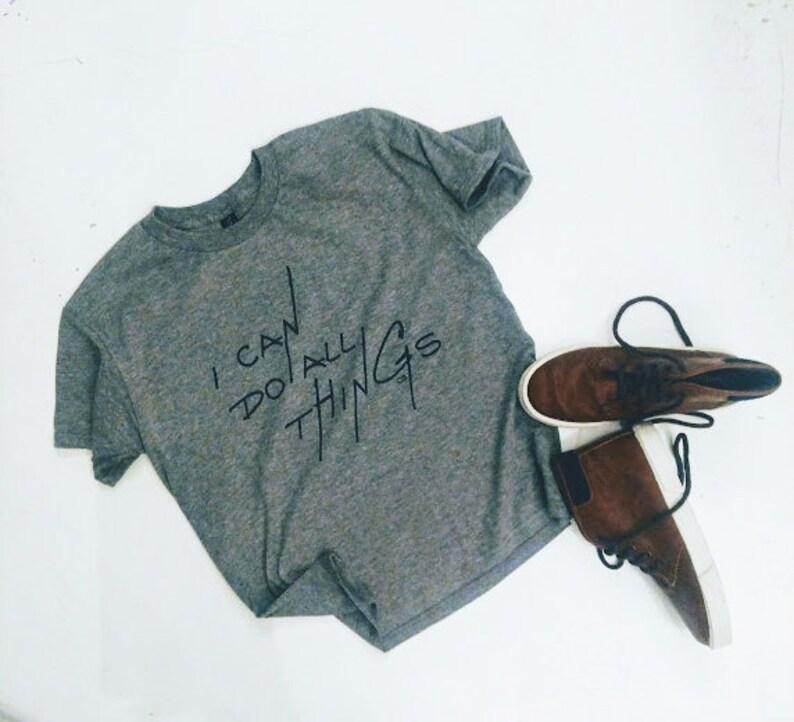 d281d0aa DO ALL things shirt // CHRISTIAN t-shirt // youth tshirt // | Etsy