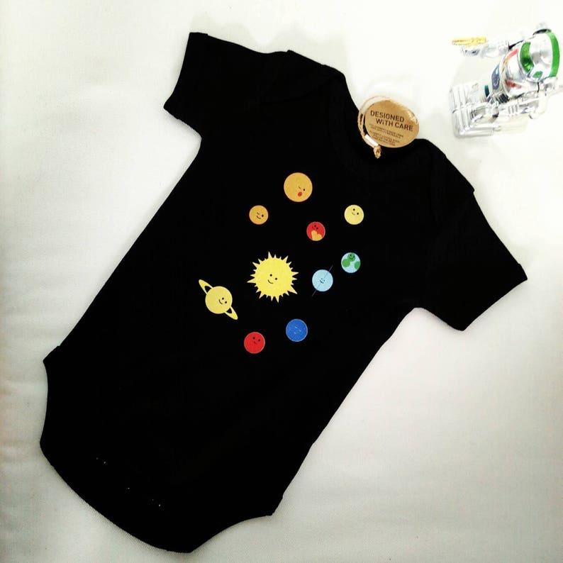 Solar system baby romper image 0
