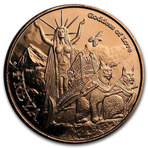 Norse Gods Series Thor Valkyrie 1 oz .999 Copper BU Round