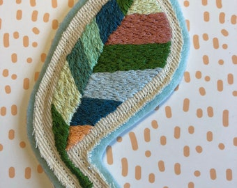 Embroidered Leaf Patch
