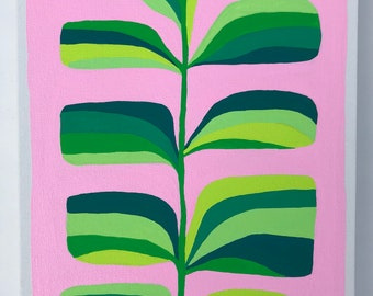 September 2018 Plant Acrylic Painting