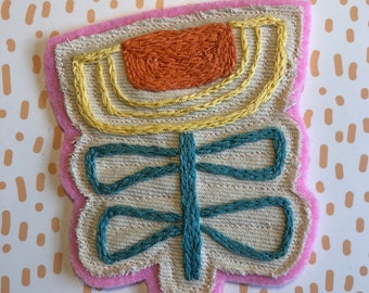 Embroidered Flower Patch
