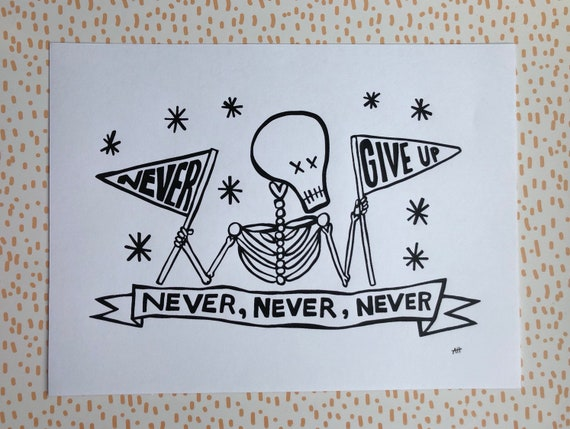 Screen Printed Skeleton Art