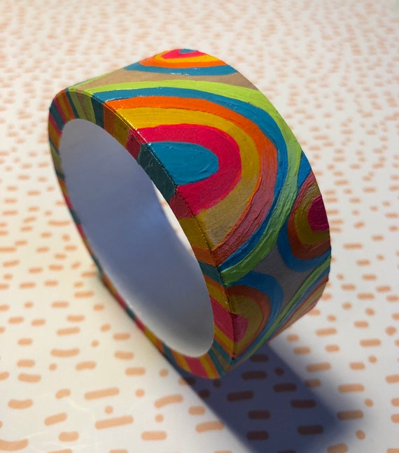 Handpainted Wooden Bangle 10