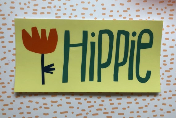 Vinyl Sticker Hippie