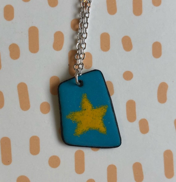 Star Enamel Necklace