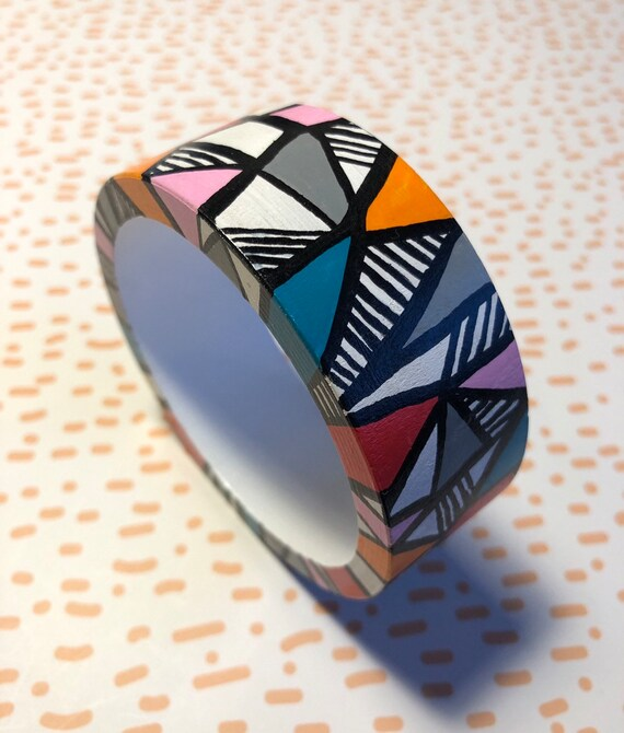 Handpainted Wooden Bangle 5