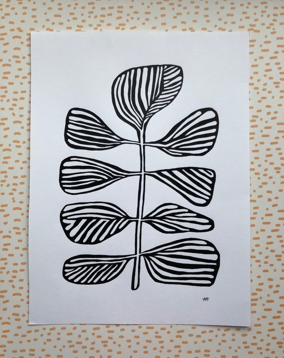 Screen Printed Botanical Art