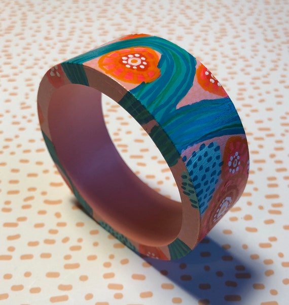 Handpainted Wooden Bangle 6