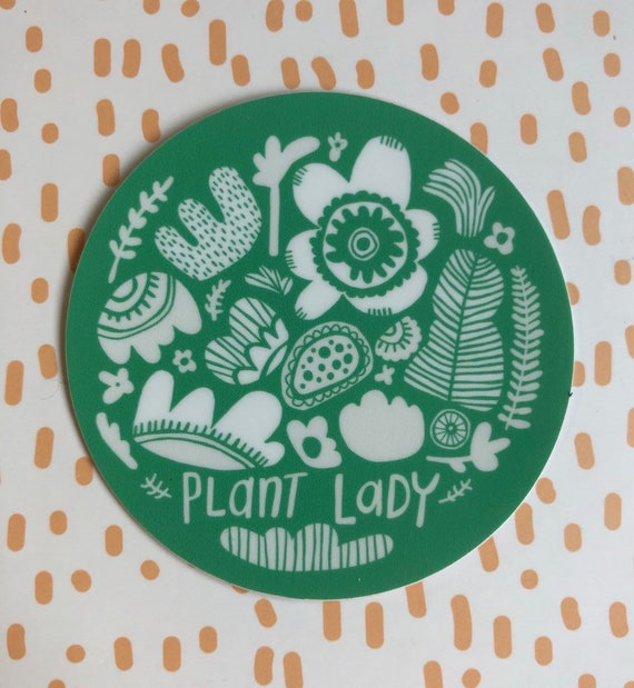 Vinyl Sticker Plant Lady