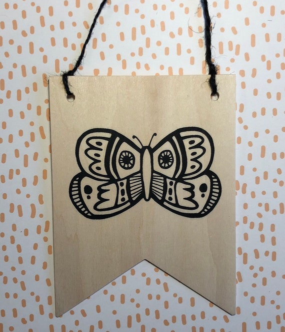 Screen Printed Wooden Banner 2