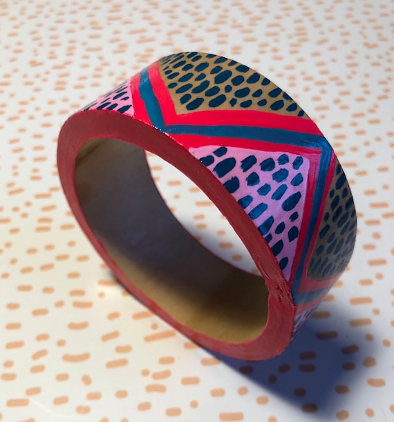 Handpainted Wooden Bangle 3
