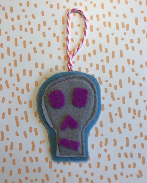 Skull Felt Ornament