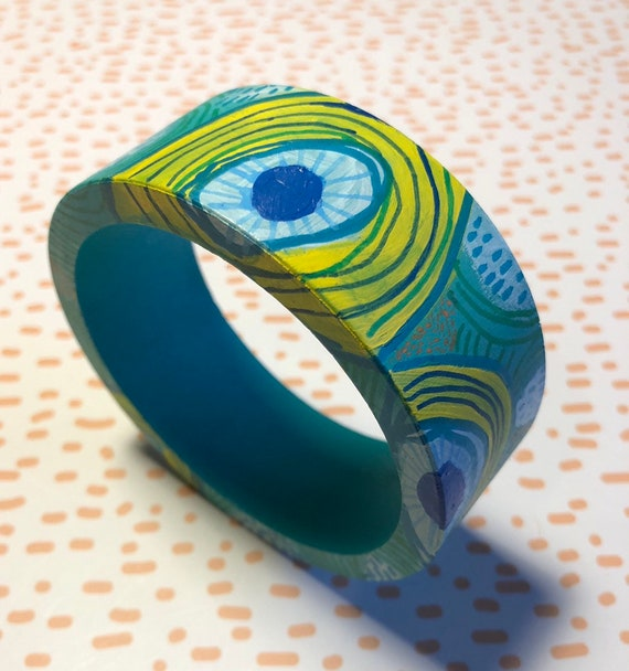 Handpainted Wooden Bangle 8