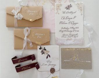 Wedding Calligraphy Invitation, Styled-Shoot Invitation Set, Engagement Invitation Shoot - PACKAGE I
