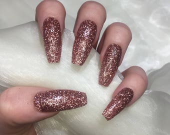 Rose Gold Nails Etsy
