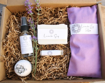Lavender Gift Set, self care gift box, gift for her, Happy Birthday gift set, mom to be gift basket, thank you gift