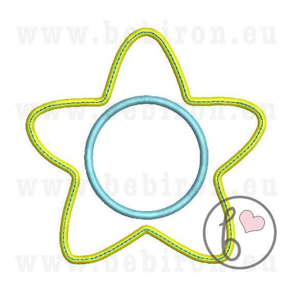 Estrellas del monograma apliques diseño bordado máquina patrón | Etsy