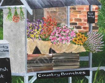 Country Bunches - Original Stretched Canvas