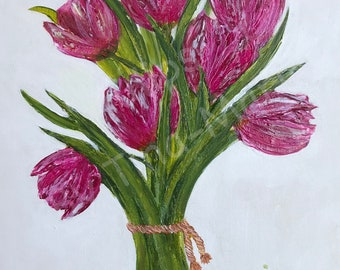 Tulips - Stretched Canvas
