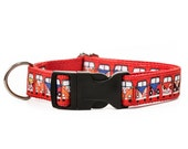 Hippie Van VW Red and White  Peace and Love Dog Collar