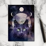 Witches Cat Notebook - Cat Notebook - Witch Notebook - Magic Notebook - Stationery - Jotter - Notepad