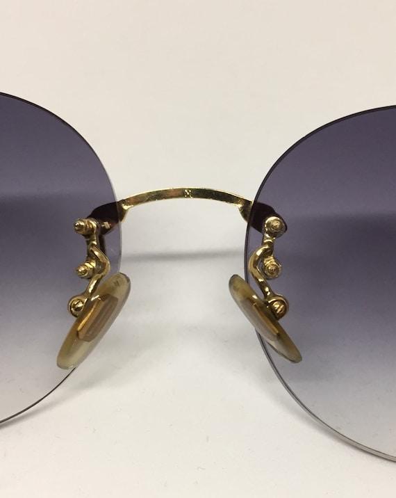 Vintage Boucheron Rimless Sunglasses - image 4