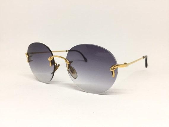 Vintage Boucheron Rimless Sunglasses - image 1