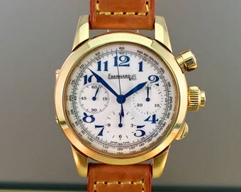 EBERHARD Tazio Nuvolari Vanderbilt Cup watch in 18kt rose gold