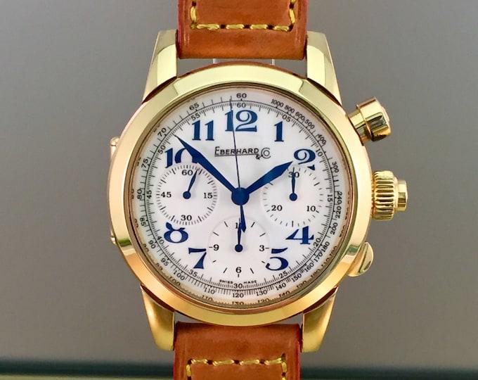 EBERHARD Tazio Nuvolari Vanderbilt Cup watch in 18kt rose gold
