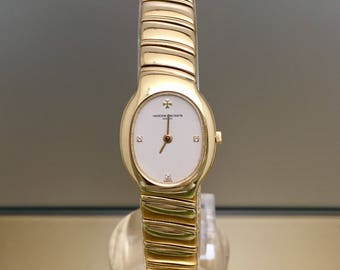 VACHERON CONSTANTIN Absolues vintage lady watch in solid gold 18kt and diamond indices
