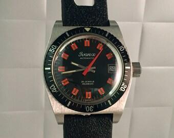 IVAREX diver Automatic Watch vintage rare