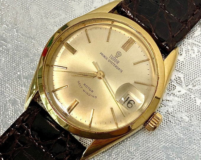 Tudor Prince Oysterdate 7966 vintage automatic rose watch