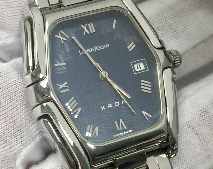 """Watch LUCIEN ROCHAT KRON lady automatic steel and silver 800 """" reduced price """""""