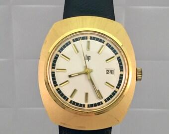 Rare vintage LIP Watch hand-wound detail Design