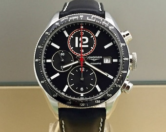 LONGINES Grande Vitesse chronograph with box and papers