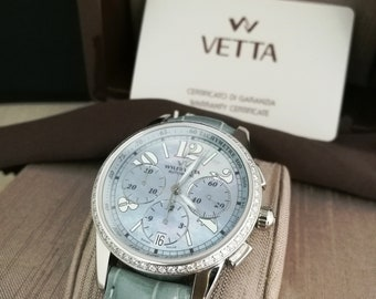Wyler Peak Watch Automatic chronograph unisex diamonds and mother of pearl dial (new)