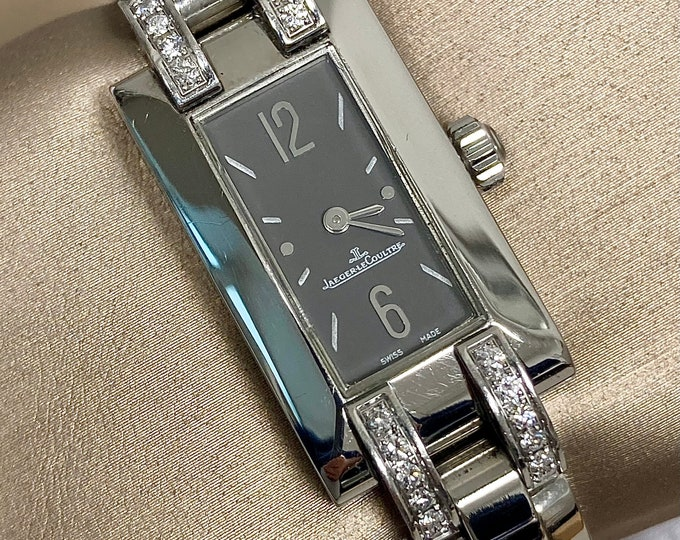 Jaeger-LeCoultre watch ideal lady manual charge in steel and diamonds