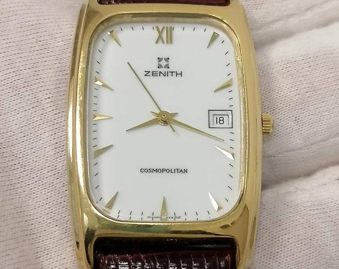 ZENITH Cosmopolitan vintage tank watch, gold plated.