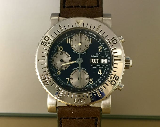 Majestic Watch MARVIN Bathygraphe Professional Chronograph sub Day date vintage