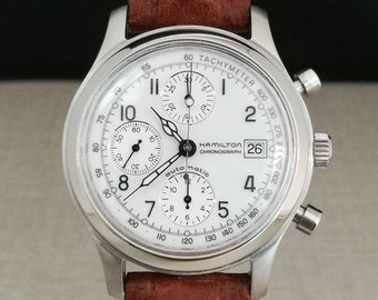 HAMILTON Watch Automatic Chronograph years 90 with documents