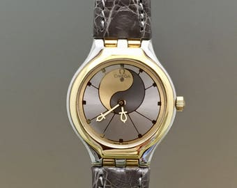 """Rare OMEGA De Ville lady watch """"Symbol"""" collection of the 80s. Stock remainncy (never worn) with box"""